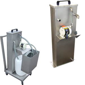 Oil separators mobile and stationary for oil grease removal
